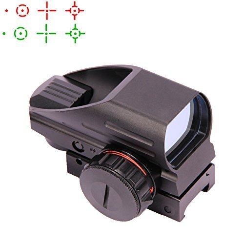 GOHIKING Tactical Multi Optical Coated Holographic Red and Green Dot Sight Tactical Reflex 4 Different Reticles