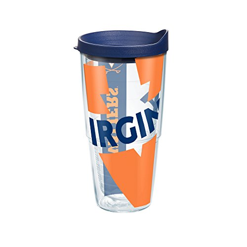 Tervis Virginia University Colossal Wrap Individual Tumbler with Lid, 24 oz, Clear