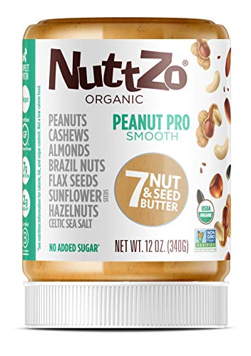 NuttZo Organic Smooth Peanut Pro Seven Nut & Seed Butter, 12 Ounce