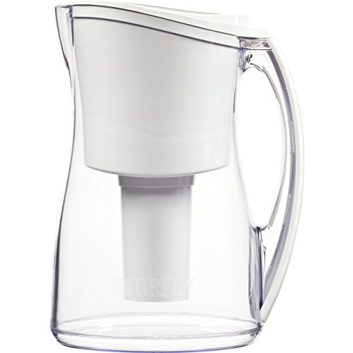 Brita Medium 8 Cup Marina Water Pitcher with Filter - BPA Free - White