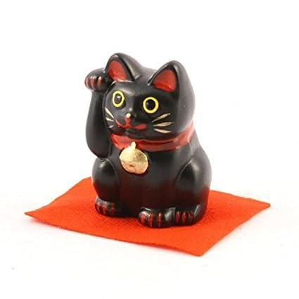 Gato de la suerte Maneki Neko (Color Negro S