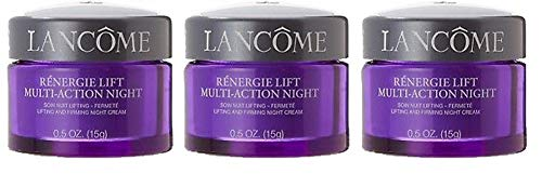 Lanc0me Renergie Lift Multi-Action Lifting and Firming Cream - Set of 3 (.5 oz/15 g each) & Make-up Bag