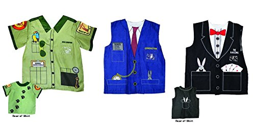 Aeromax My 1st Career Gear Assortment: Zookeeper, Magician and Train Conductor Shirt (3 Piece (Zookeeper Costume)