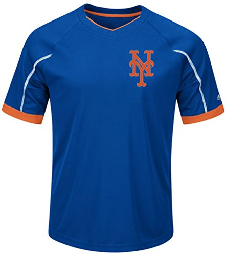 VF New York Mets MLB Majestic Mens Cool Base Emergence Shirt Big & Tall Sizes ()