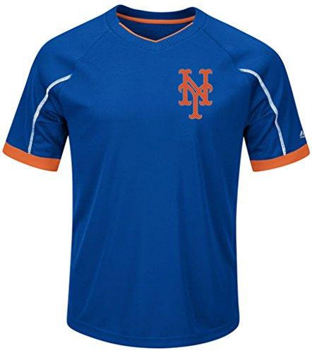 VF New York Mets MLB Majestic Mens Cool Base Emergence Shirt Big & Tall Sizes (3XT)
