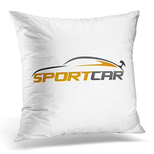 Emvency Throw Pillow Cover Clipart Speed Abstract Sport Car Automotive Topics Auto Company Decorative Pillow Case Home Decor Square 18