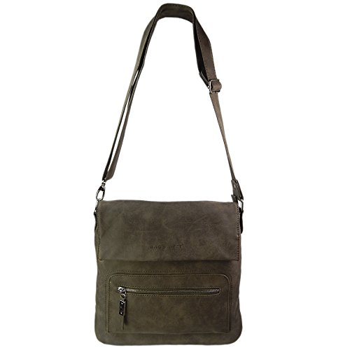 Bag Street - Bolso al hombro para mujer gris gris pardo