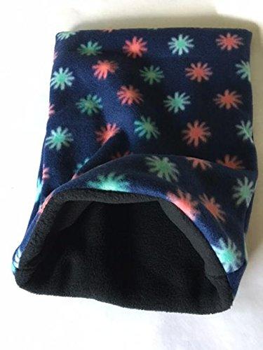 The Kozy Kritter Flowers on Navy Handmade All Fleece Seamless Snuggle Sack