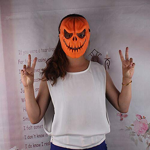 Hot Sale!DEESEE(TM)Funny Pumpkin Latex Mask Halloween Party Cosplay Face Mask Tool Prop Costume]()