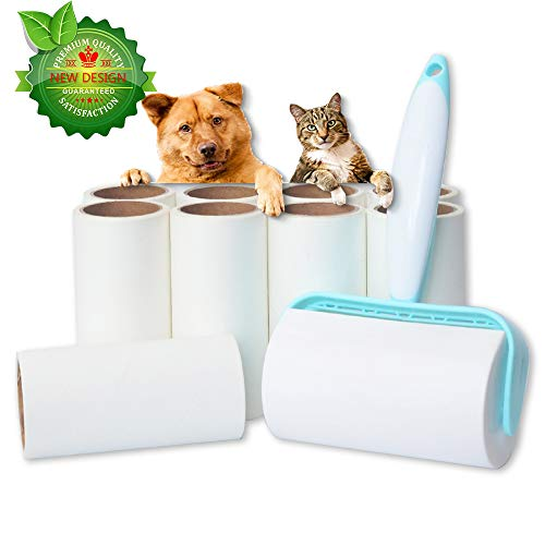 (New roller lint roller, tear-off and replaceable lint roller, pet hair clipper for clothes, animal hair, car seats。9 Refills 540 Sheets)