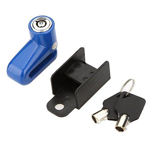SPHTOEO Anti-Theft Safety Security Motorcycle Bicycle Lock Steel Mountain Road MTB Bike Cycling Rotor Disc Brake Wheel Lock(Blue)