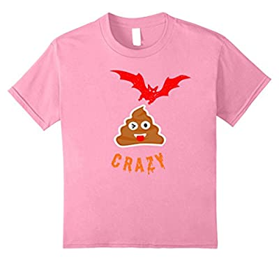 Bat Poop Emoji Crazy Halloween T-Shirt Funny
