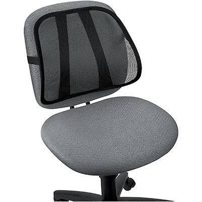 Sitback Mesh Backrest Black by Core Products, Lumbar Support Pillow, Back Pain Support Cushion, Car Cushion, Mesh Keeps You Cool & Comfortable