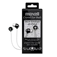 Maxell 190336 Crystal Ear Buds (Negro)