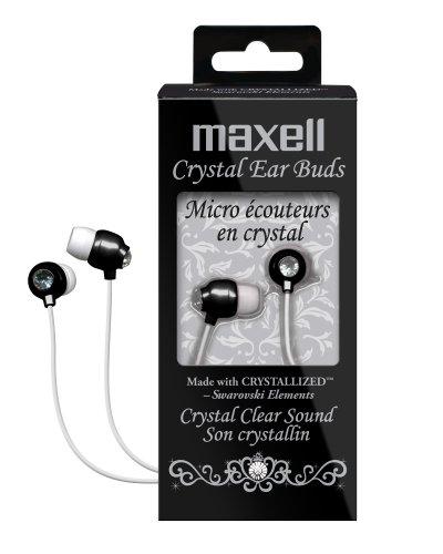Maxell 190336 Crystal Ear Buds (Black)