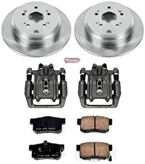 Prime Choice Auto Parts BCPKG00110 Rear Set of Two Brake Rotors Two Brake Calipers and Performance Ceramic Brake Pads