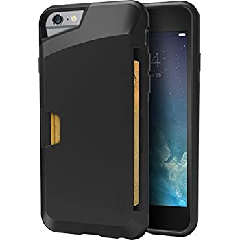 more photos 6ebd5 01cd9 Smartish iPhone 6/6s Wallet Case - Wallet Slayer Vol. 1 [Slim + Protective]  Credit Card Holder for Apple iPhone 6s/6 (Silk) - Black Onyx