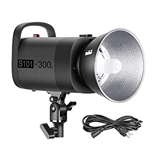 Neewer S101-300W Professional Studio Monolight Strobe Flash Light 300W 5600K with Modeling Lamp, Aluminium Alloy, Bowens Mount for Studio,Shooting,Product and Portrait Photography