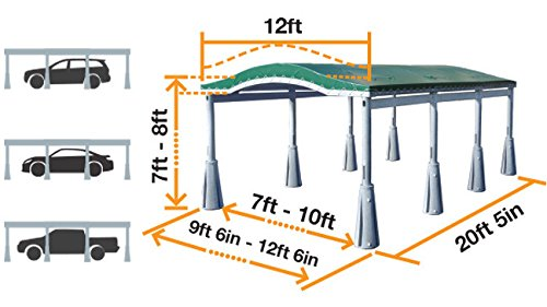 GoPort 3-Module Portable Carport - Outdoor Shelter by GoPort