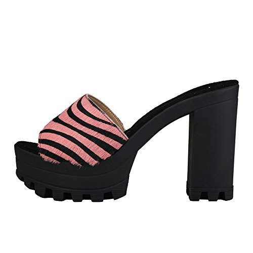 Naomi Women Sandali Scarpe Black Bianco pink V 1969 UcIqfyRS5