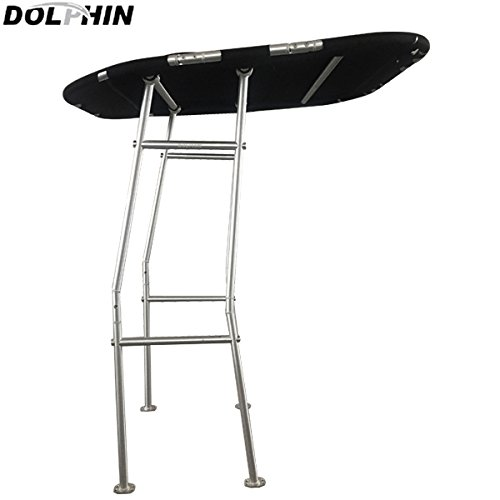 - Dolphin Pro E Economic T-Top Fishing Boat Tower, Black Canopy,1.5