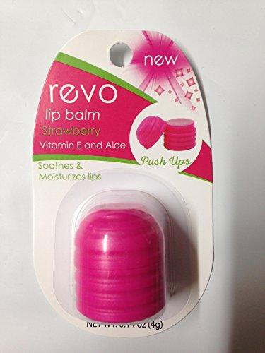 Oralabs Revo Lip Balm ,Strawberry flavor with Vitamin E and Aloe, Push Ups ()