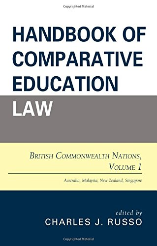 Handbook of Comparative Education Law: British Commonwealth Nations (Volume 1)