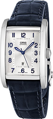 Oris-Rectangular-Date-Mens-Silver-Face-Luminous-Hands-Swiss-Made-Blue-Leather-Band-Rectangle-Automatic-Watch-01-561-7693-4031-07-5-22-25FC