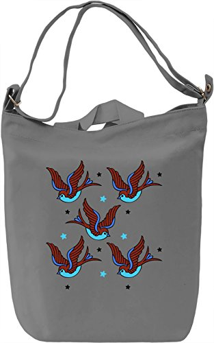 Colourful Birds Borsa Giornaliera Canvas Canvas Day Bag| 100% Premium Cotton Canvas| DTG Printing|