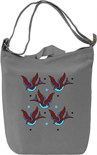 Colourful Birds Borsa Giornaliera Canvas Canvas Day Bag| 100% Premium Cotton Canvas| DTG Printing|
