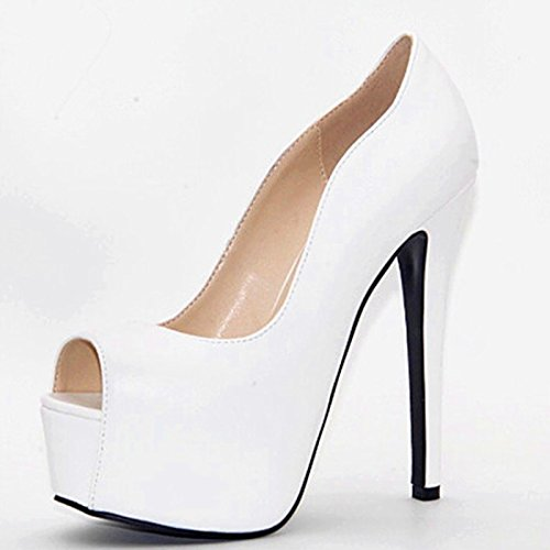 VIVIOO Shoes Heels 45 6 Size Women's Leather 34 Peep White Pumps Fabric Toe Prom Sandals Beautiful Fashion High qrErFR