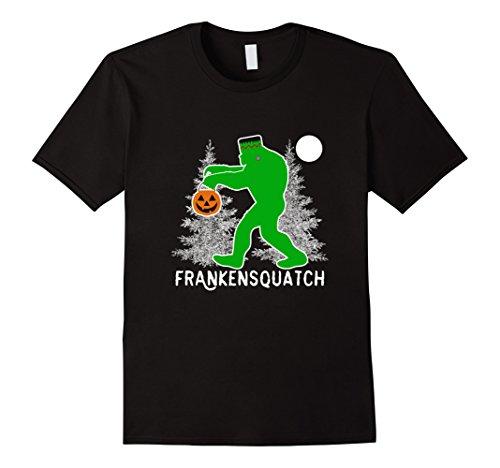 Frankenstein Costume Hands (Mens Frankenstein Bigfoot T-Shirt Funny Bigfoot Halloween Costume Medium Black)