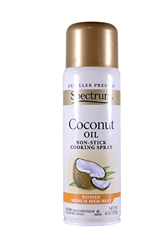 Spectrum Naturals Organic Coconut Oil Spray, 6 Ounce (Pack of 2) Packaging May Vary