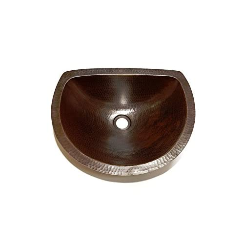 "Arches Bathroom Copper Sink -Undermount or Drop-in 17"" Sink Hand Crafted good"