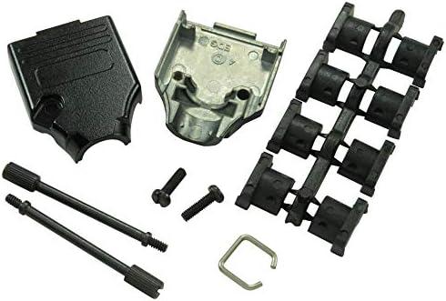 MHDTZK Series MHDTZK-9-BK-K 180/° DE Pack of 20 D Sub Backshell Zinc Body,