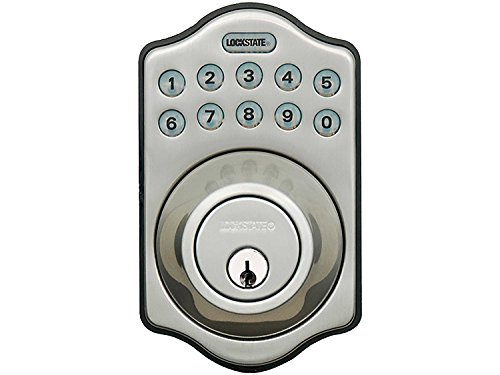 LockState RemoteLock 5i WiFi Electronic Deadbolt Door Lock - Satin Nickel - Aspen (LS-DB5i-SN-A)