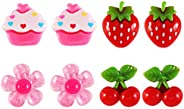 YeahiBaby Kids Clip-on Earrings Little Girls Play Ear Clip Earrings,4 Pairs
