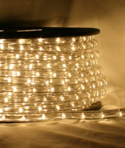 CBconcept 120VLR80FT-WW 120V 2-Wire 1/2-Inch LED Rope Light with 1.0-Inch LED Spacing, 80-Feet, Warm White by CBconcept