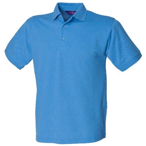Henbury 65/35-polo Blu Blu