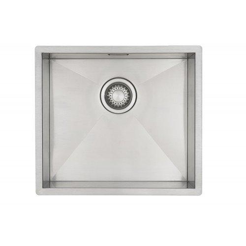 Edelstahl Küchenspüle/ Spülbecken MIZZO Quadro 40-40 Flächenbündig / Unterbau - Eckige Edelstahlspüle/ spüle 40*40 cm