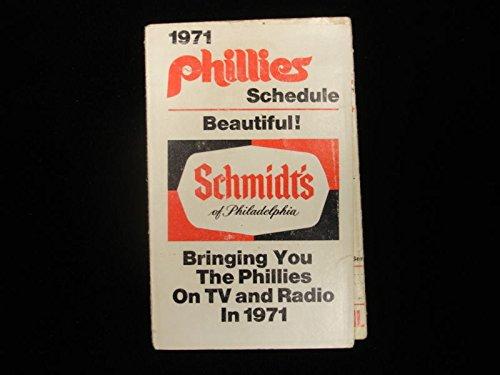 Philadelphia Phillies Calendars - 1971 Philadelphia Phillies Baseball Schedule/Calendar