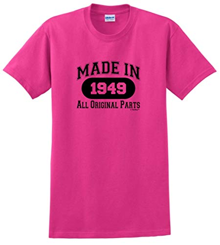 70th Birthday Party Supplies 70th Birthday Gift Made 1949 All Original Parts T-Shirt XL Heliconia]()