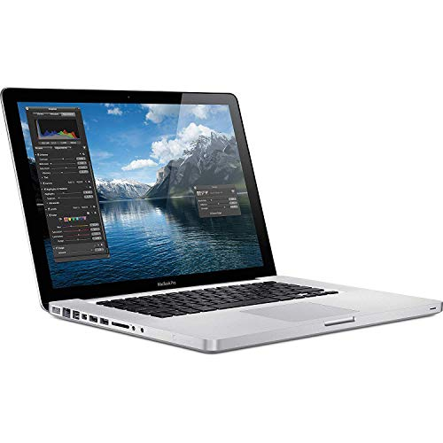 Apple MacBook Pro MC371LL/A 15.4in, 8GB RAM, 256GB SSD, 2.4GHz Intel Core i5, Silver (Renewed)