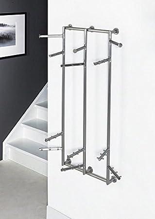 Design Garderobe Wandgarderobe IMMO 5 XL Edelstahl