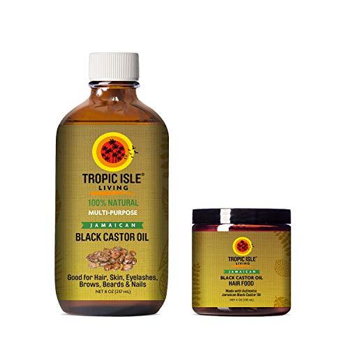 amaican Black Castor Oil 8oz & Hair Food 4oz