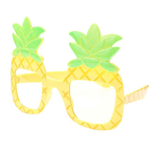 Pineapple Eyeglasses OULII Hawaii Fruit Eye Glasses for Beach Luau Party Luau Hawaii Party (Drinking Eye Glasses)