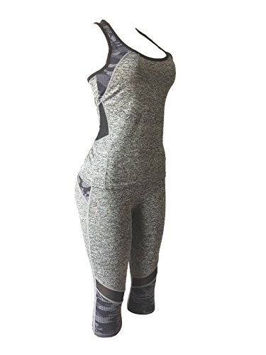 12a17aaffde922 NY GOLDEN FASHION Women Fitness Gym Yoga Workout Tank Top + Cropped Leggings  Activewear Set Sports Tracksuits at Amazon Women's Clothing store: