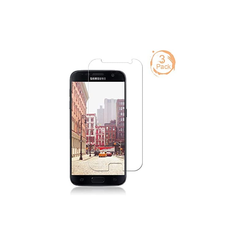 [3-Pack] Galaxy S7 Screen Protector,Cafe