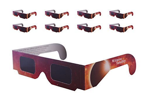 Price comparison product image Solar Eclipse Glasses - ISO & CE Certified Safe Solar Viewing -10 Pack) Viewer and Filter - Protection For All Ages - Witness Totality