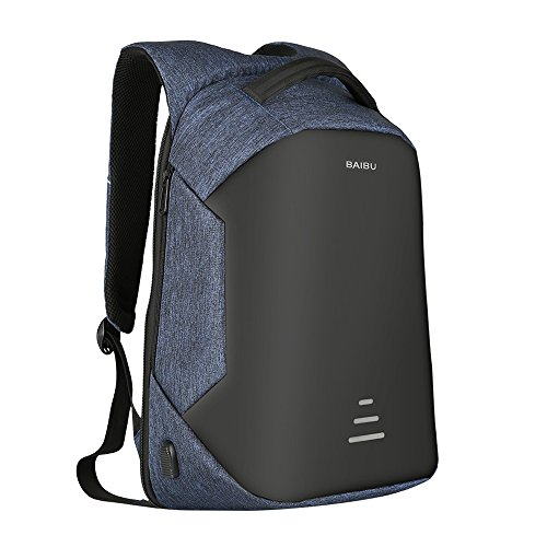 Daygos Anti-theft Backpack Waterproof Travel Laptop Backpack with USB Charging Port for Boy&Girl&Men&Women Blue